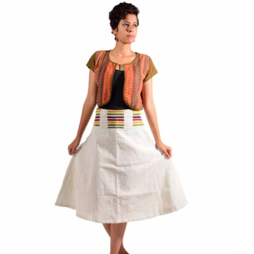 Multi-color Waistband Skirt