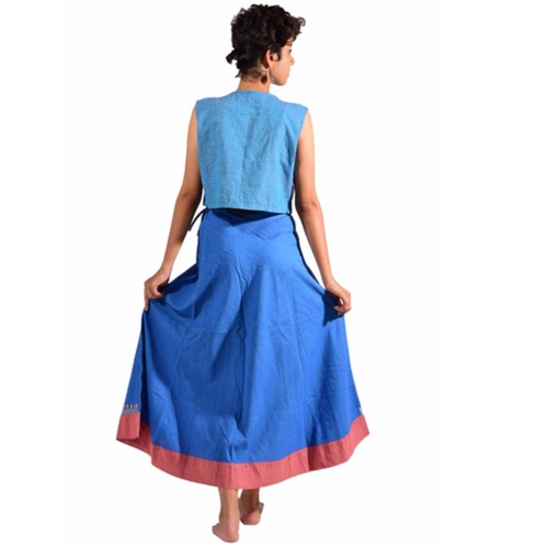 Indigo Flared Skirt