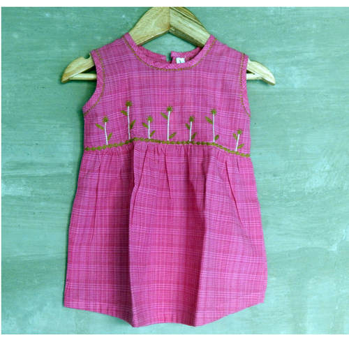 Kids cotton frock Age 2 (Pink)