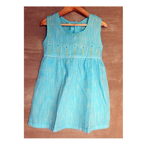 Kids cotton frock Age 4 - Sky Blue