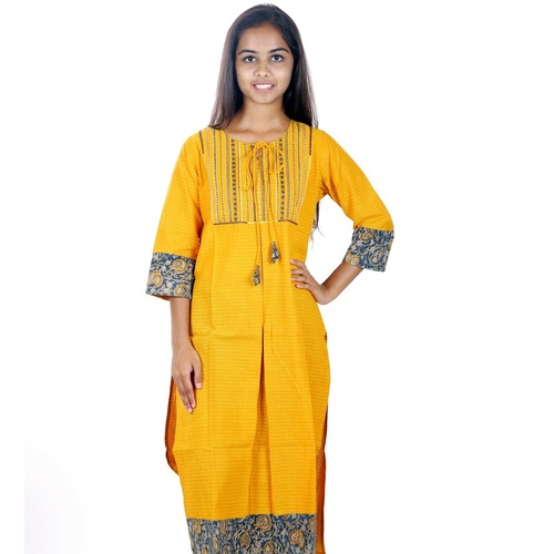 Thaikulam yellow Kurta