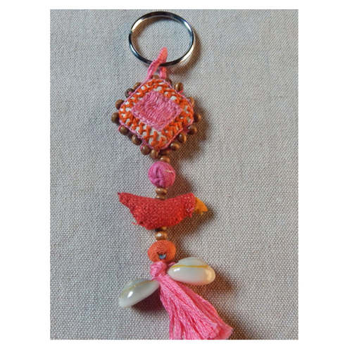 Key Chain - Camellia rose pink