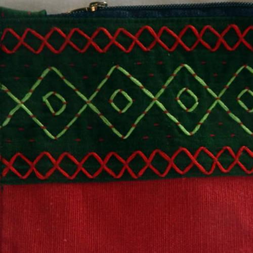 Vegaro purse green red Small G9