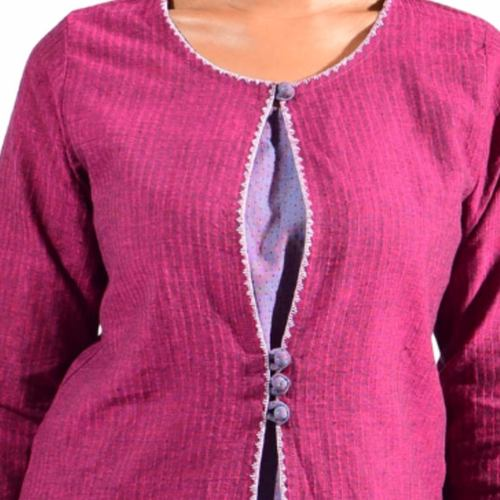 Fushion Magenta layered Kurta