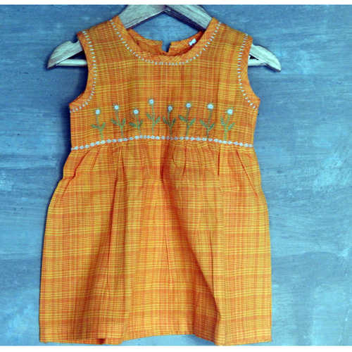 Kids frock  Age  1 Yellow
