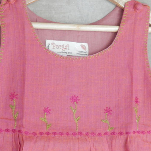Kids cotton frock Age 6 - Pink