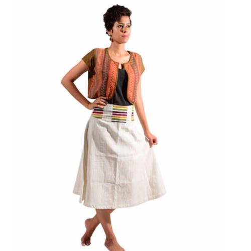 Multi-color Waistband Skirt