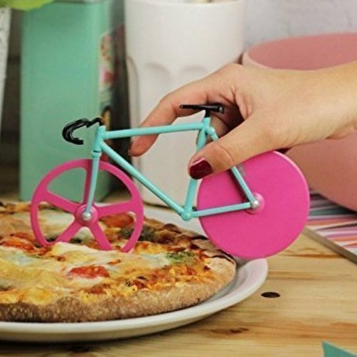 Bicycle Pizza Cutter Dual Stainless Steel Bike Pizza Cutter Wheel