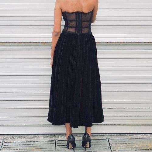 Moss Velvet Dress