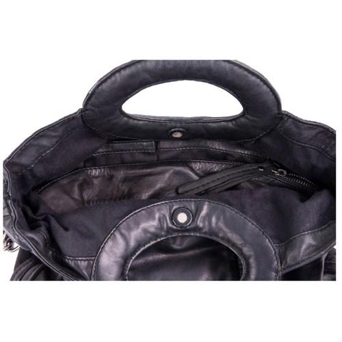 Diesel Black Gold Leather Bag