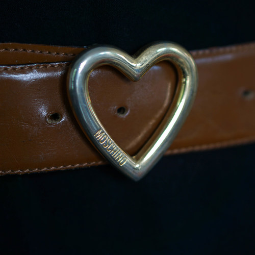 Vintage Moschino Heart Buckle Belt