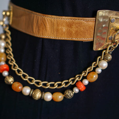 Vintage Camel Chained Belt