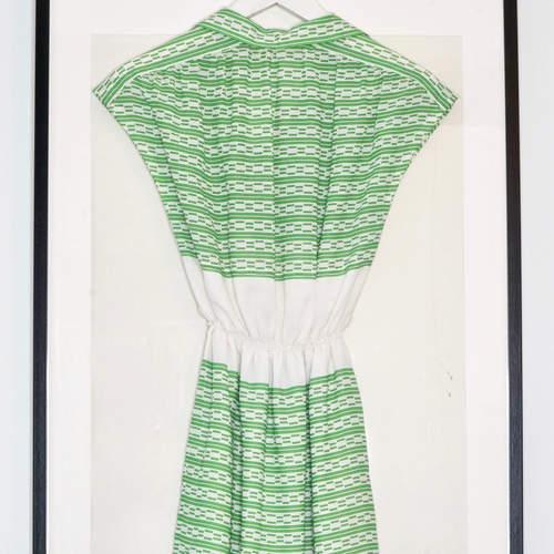 Vintage Green Printed Dress