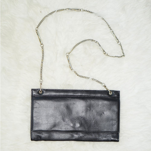 Vintage Leather Thin Envelope Clutch