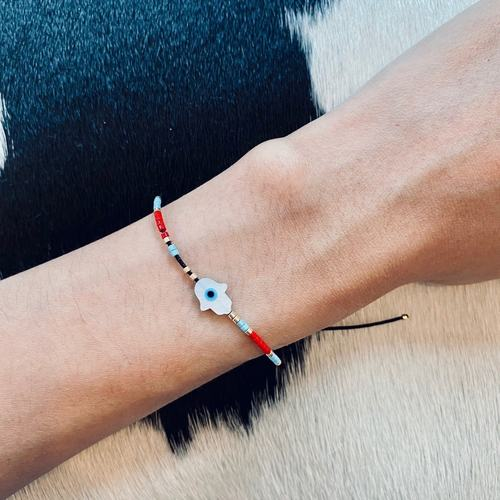 Beaded Hamsa Bracelet
