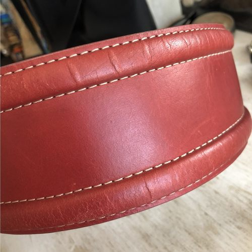 Vintage Red Leather Belt