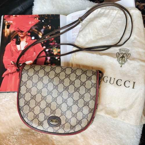 Vintage Gucci Accessory Saddle Bag