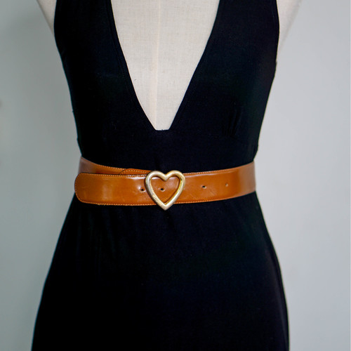"Vintage ""Moschino"" Heart Buckle Belt"
