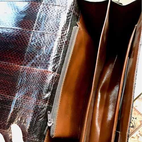 Vintage 70s Snake-Skin Bag