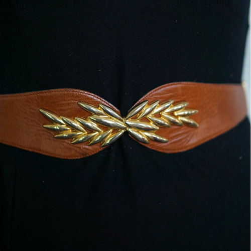 Vintage Leather Leaf Belt