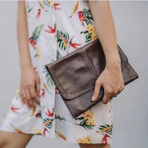 Vintage Clutch Leather Bag