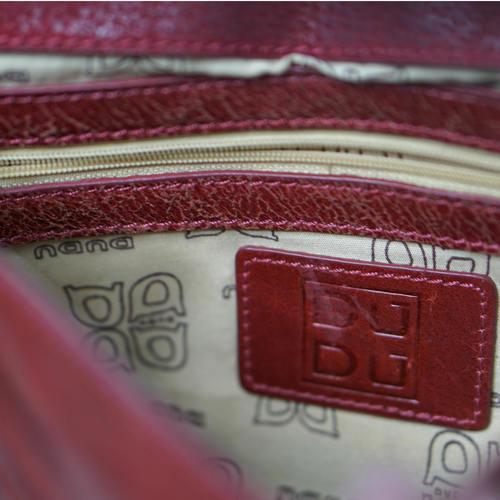 Vintage DUDU Leather Saddle Cross Body Bag