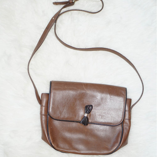 Vintage Celine Leather Cross Body Bag