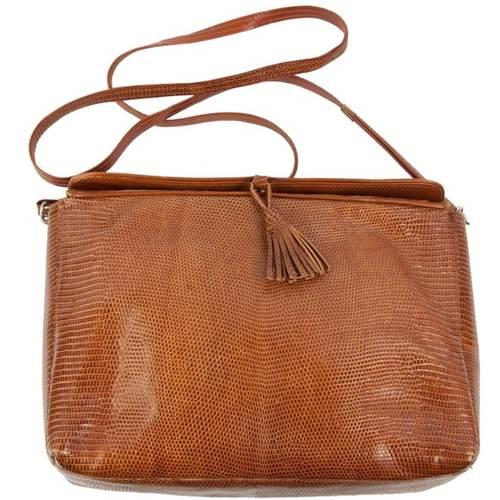 Fendi Lizardskin Shoulder Bag