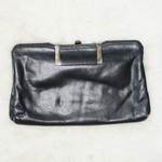 Vintage Black Leather Clutch