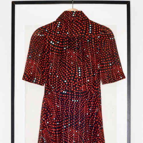 Vintage Red Polka Midi Dress