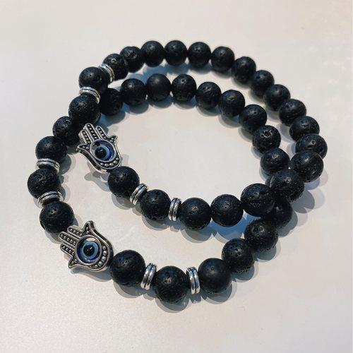 Natural Lava Stone Bracelet