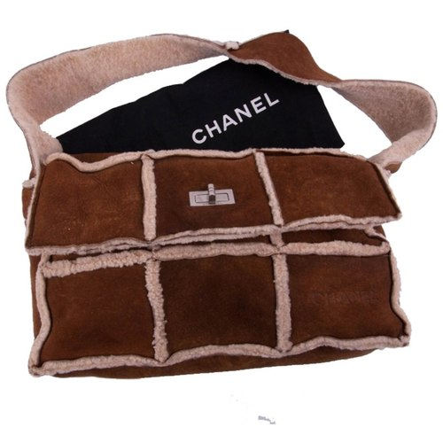 Chanel Shearling Shoulder Bag