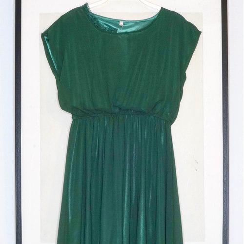 Vintage Moss Green Dress