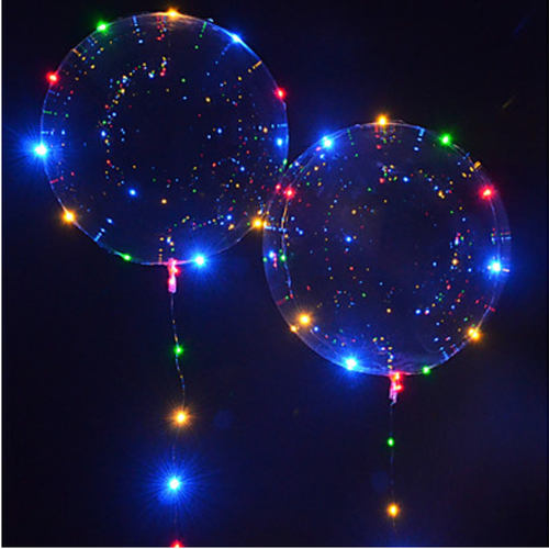 "[Helium Inflated] 18"" LED Transparent Balloon"