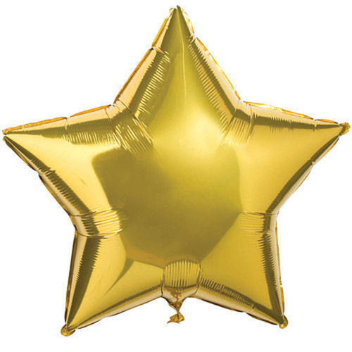 "[Helium Inflated] 18"" Gold Star Foil Balloon"