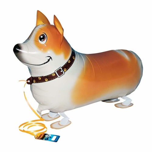 "[Helium Inflated] 26"" Corgi Animal Walker Balloon"