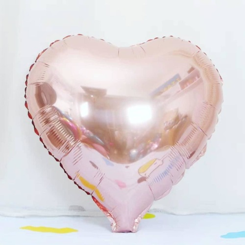 """[Helium Inflated] 18"""" Heart Foil Balloon"""