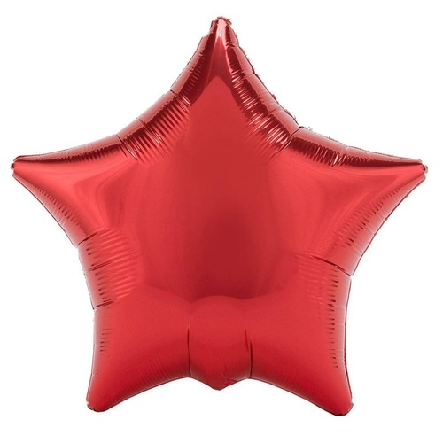 """[Helium Inflated] 18"""" Red Star Foil Balloons"""