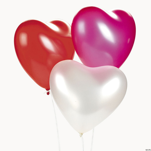 "[Helium Inflated] 12"" Heart Shape Latex Balloon"