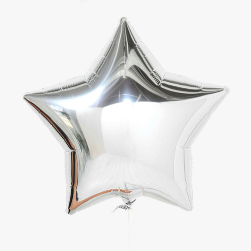 "[Helium Inflated] 18"" Sliver Star Foil Balloons"