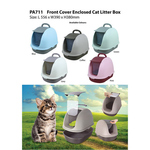 Front Cover Enclosed Cat Litter Box