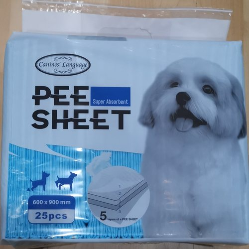 Canines language Pee Sheet High Absorbent- 25pcs x 600x900mm