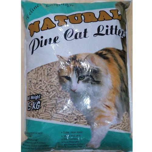 Felines Language Natural Pine Cat Litter 25KG