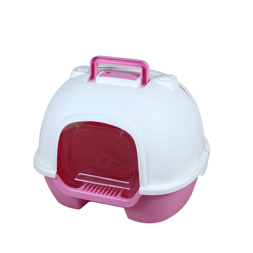 Transverse Enclosed Cat Litter Box - L506 x W415 x H390