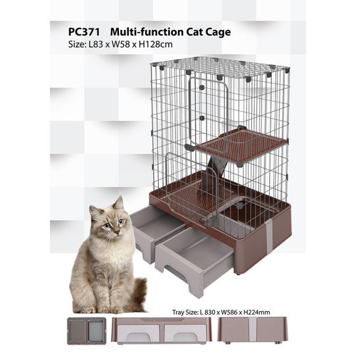 Multi-Function Cat Cage - L830 x W586 x H1280mm