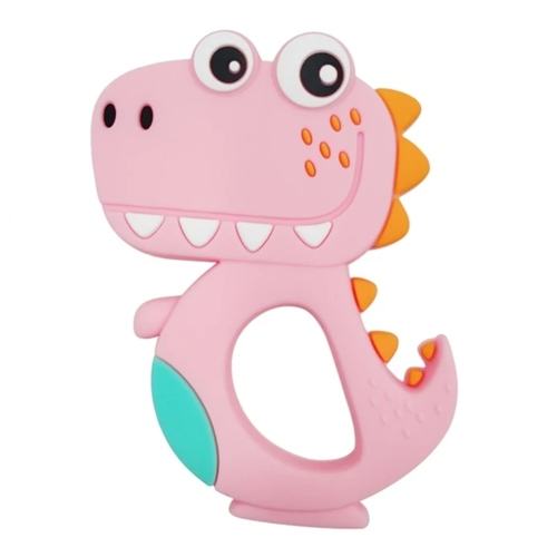 Baby Teether Happy T-Rex (Pink)