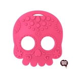 Baby Teether Sugar Skull (Pink)