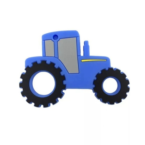Baby Teether Tractor (Blue)
