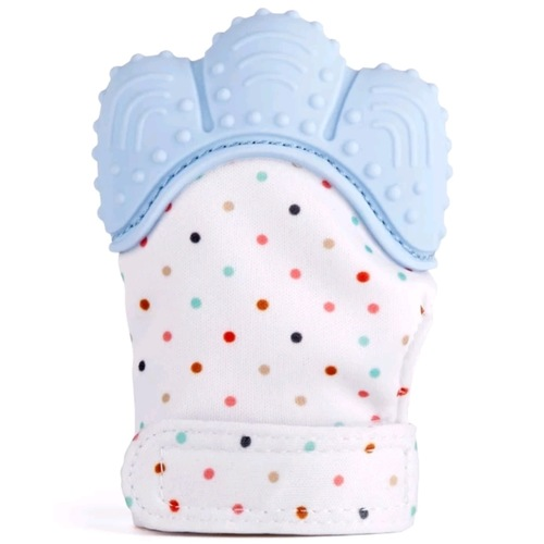 Glove Bite Polka Dots (Blue)