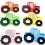 Baby Teether Tractor (Pink)